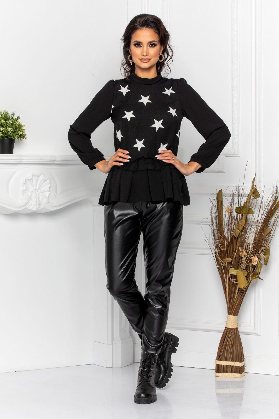 Μαύρη Μακρυμάνικη Μπλούζα Karla 8577