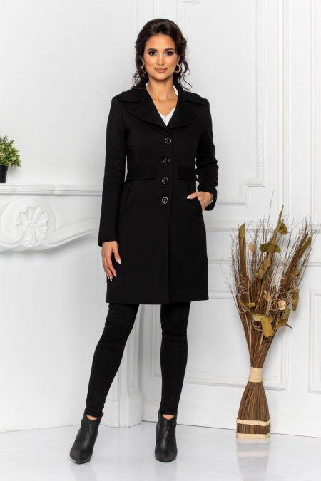 Μαύρο Παλτό Dustin 8571