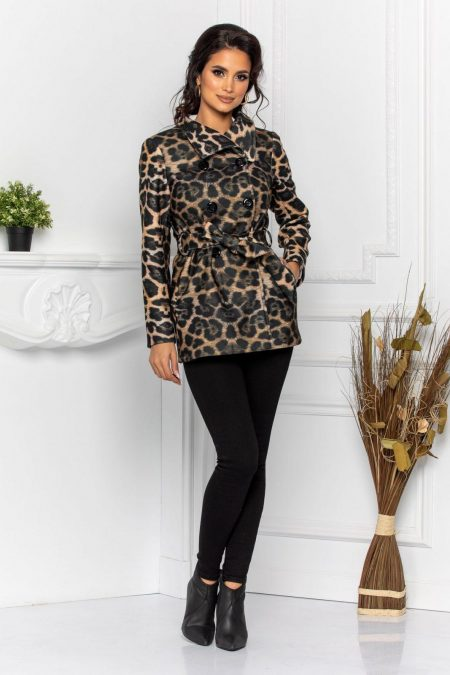 Moze Elden Animal Print Coat