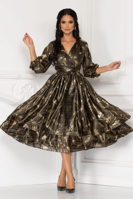 Romelia Golden Dress