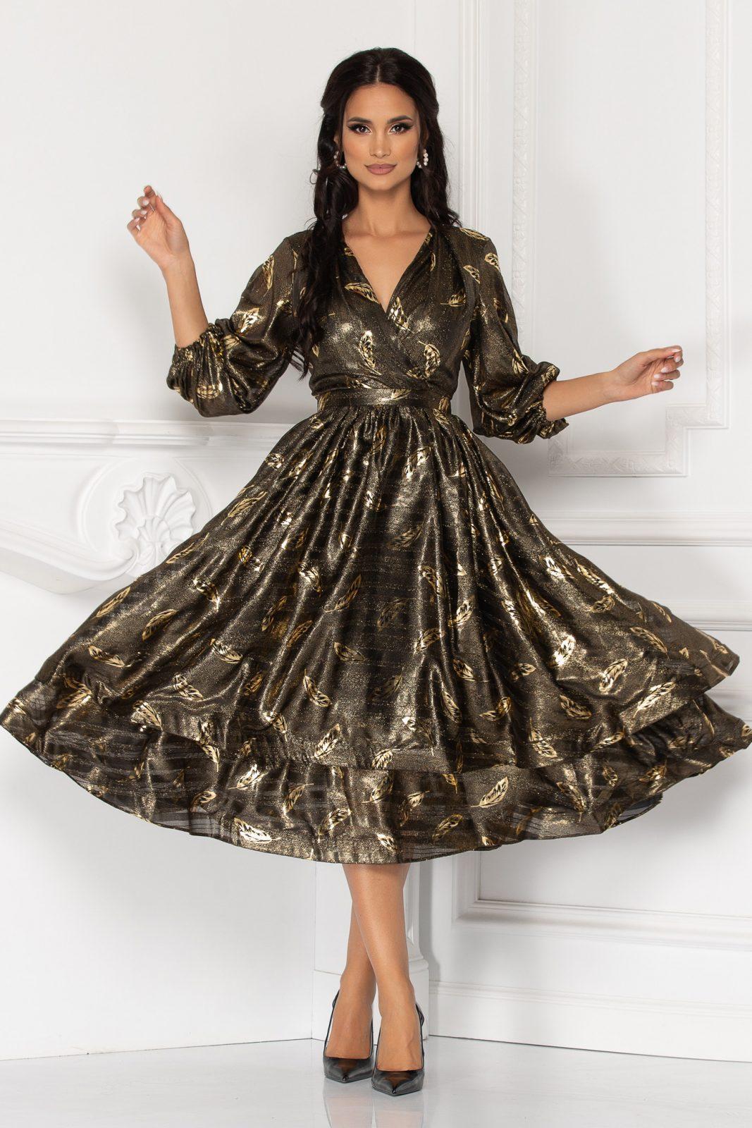 Romelia Golden Dress