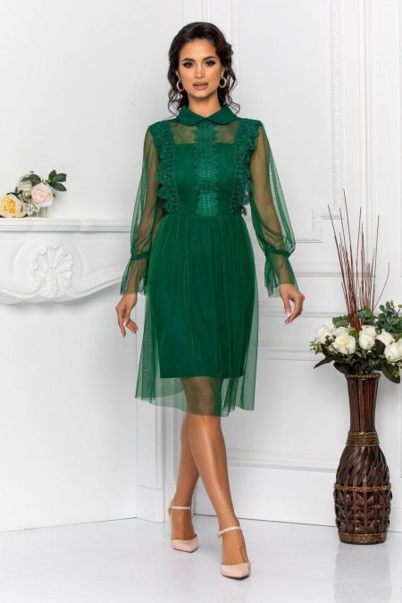 Priscilla Green Dress