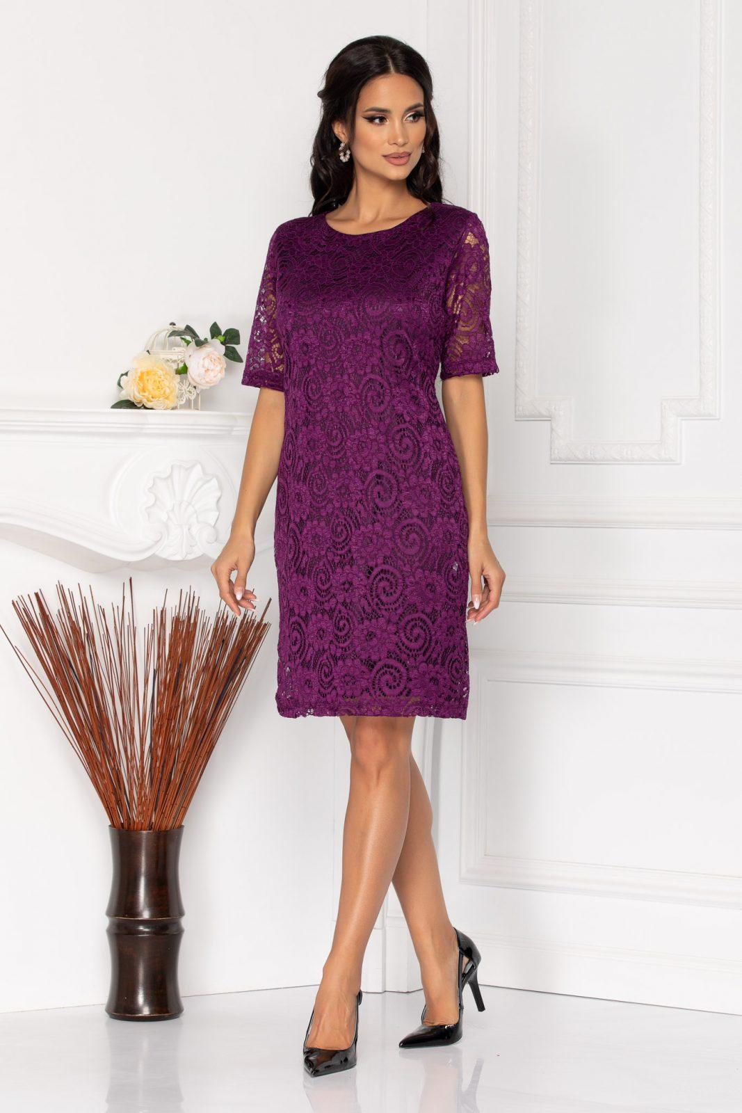Glancy Violet Dress