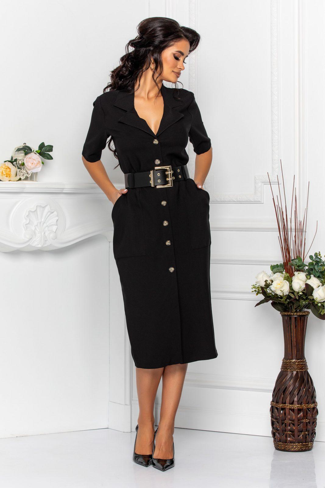 Onda Black Dress