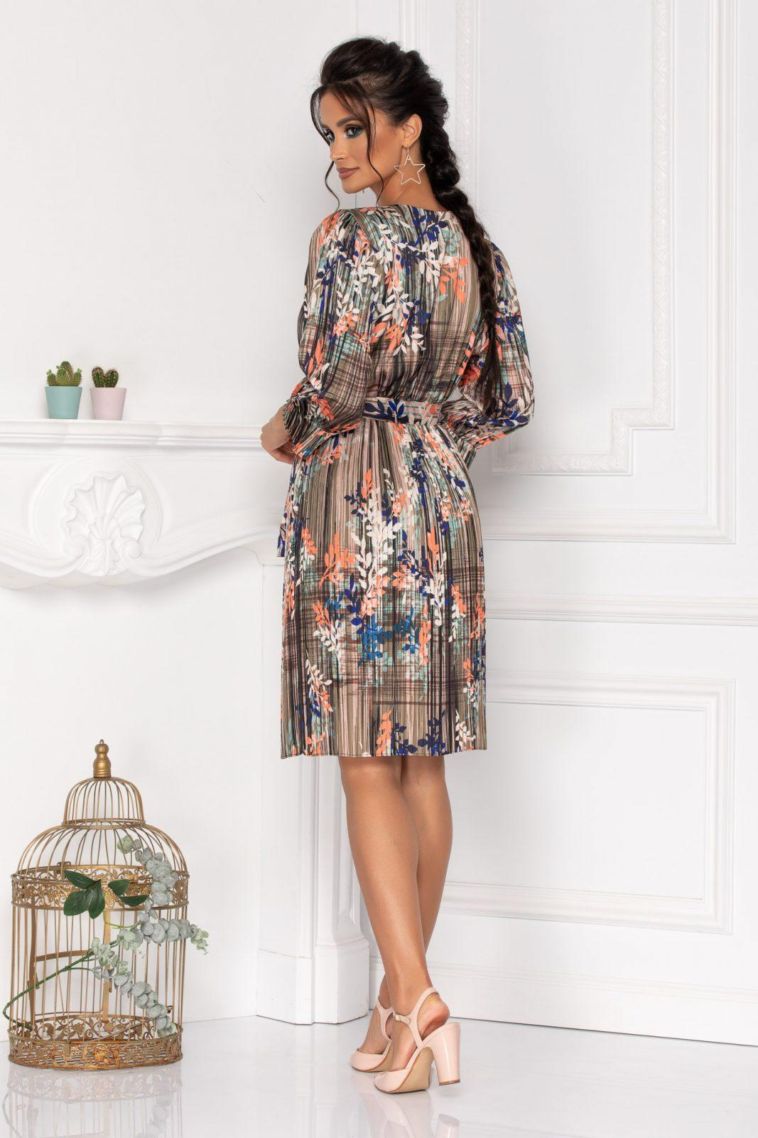 Πλισέ Σατέν Φόρεμα Sidney 8466 2