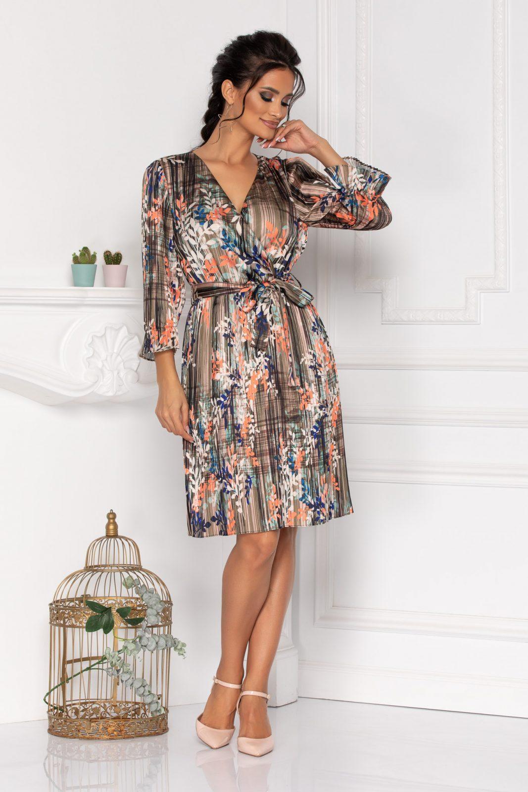 Πλισέ Σατέν Φόρεμα Sidney 8466 1