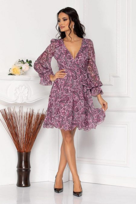 Simine Lilac Multi Dress