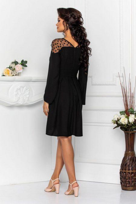 Μαύρο Ασύμμετρο Φόρεμα Anastasia 8555