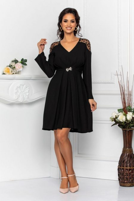 Moze Anastasia Black Dress