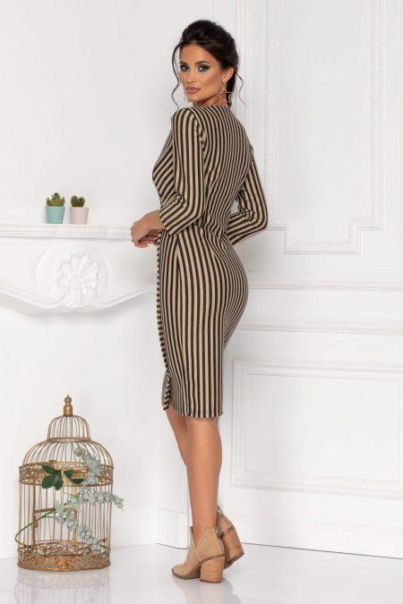 Ριγέ Καθημερινό Φόρεμα Justina 8484