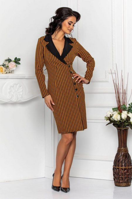 Coline Dark Yellow Dress