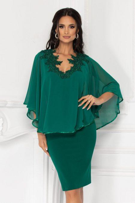 Πράσινο Φόρεμα Με Δαντέλα Calliope 1558