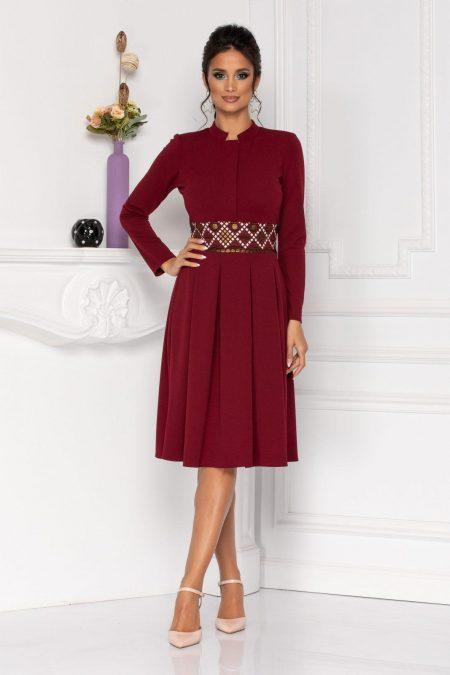 Moze Riana Burgundy Dress