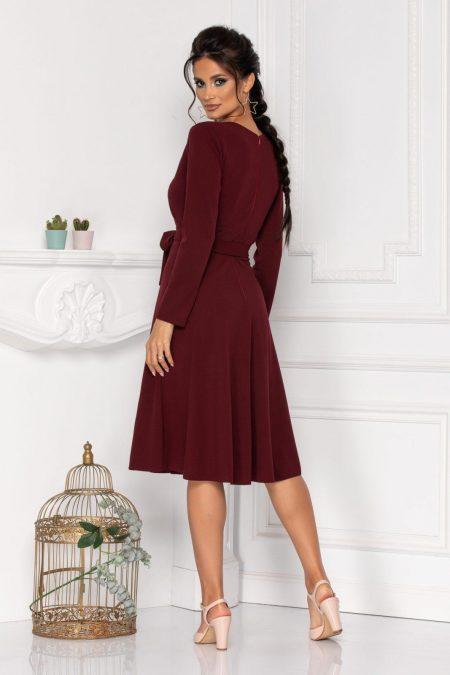 Μίντι Μπορντό Φόρεμα Με Κουμπιά Moze Thalisa 8420