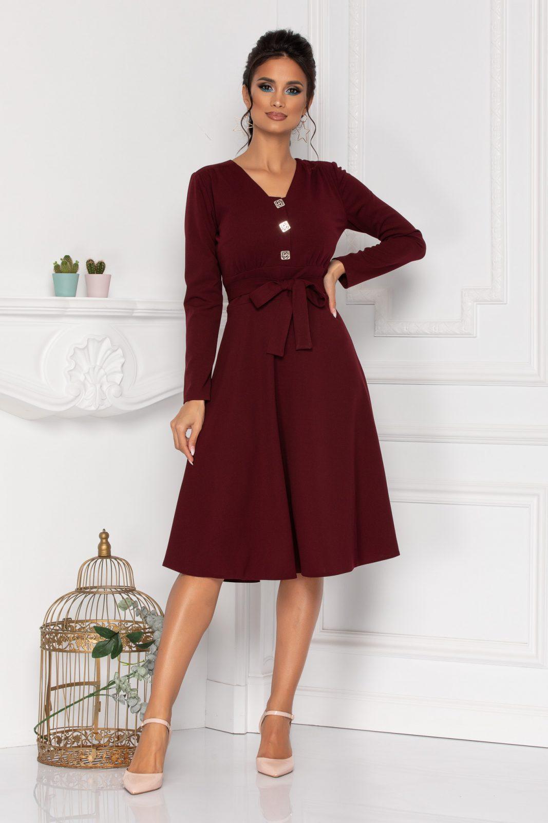 Moze Thalisa Burgundy Dress