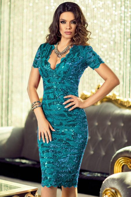 Vivianne Turquoise Dress