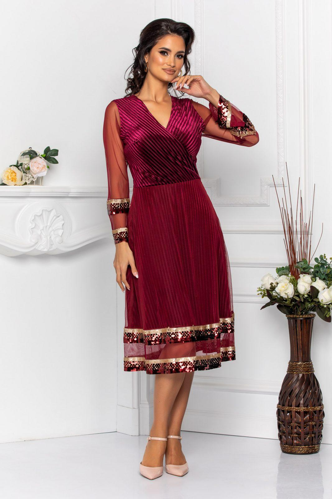 Sindy Burgundy Dress