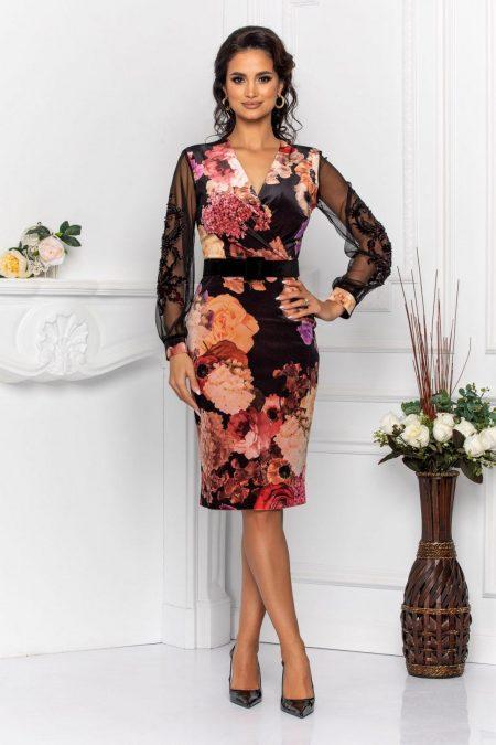 Fleur Black Dress
