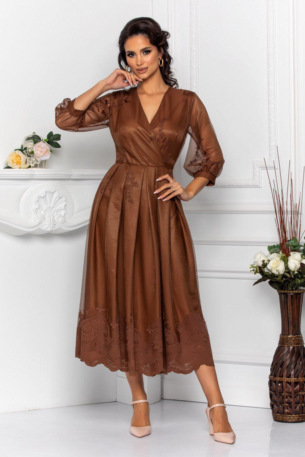 Βραδινό Φόρεμα Με Δαντέλα Cybill 8549