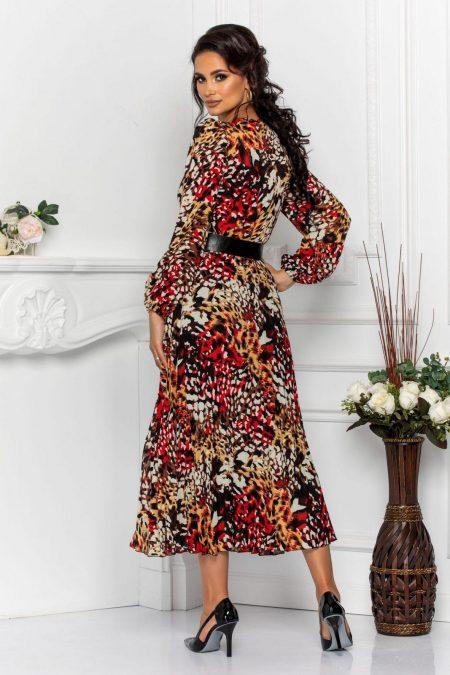 Animal Print Φόρεμα Με Ζώνη Malina 7554