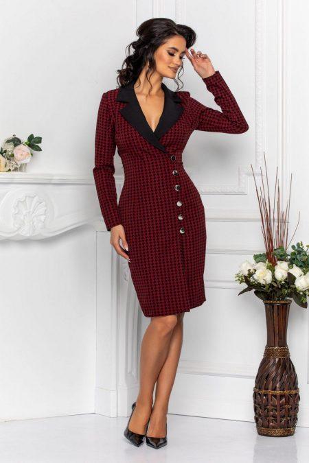 Coline Burgundy Dress