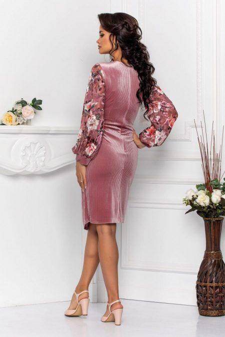 Λιλά Κρουαζέ Βραδινό Φόρεμα Judith 8548