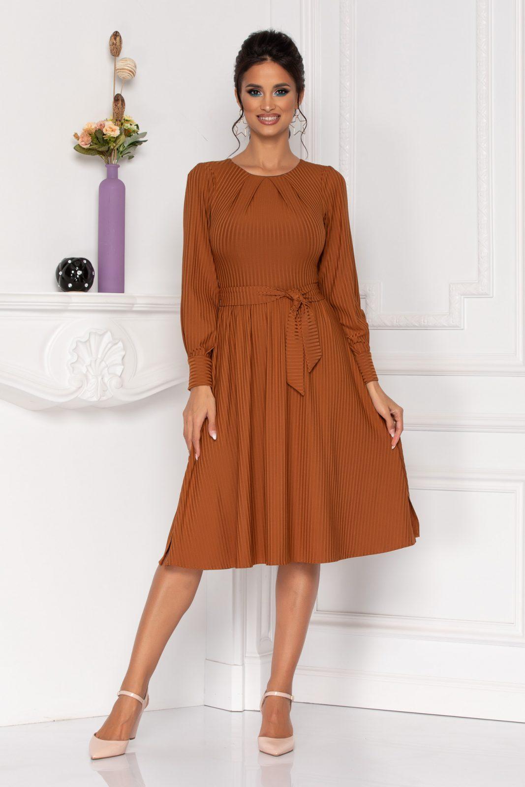 Καφέ Φόρεμα Moze Eden 8438
