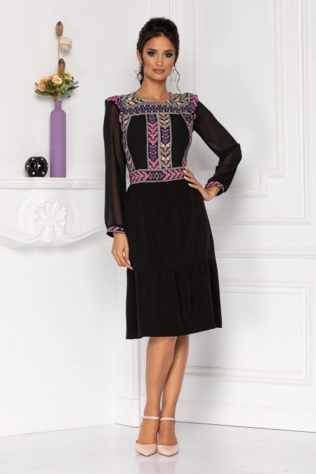 Moze Elvina Black Dress