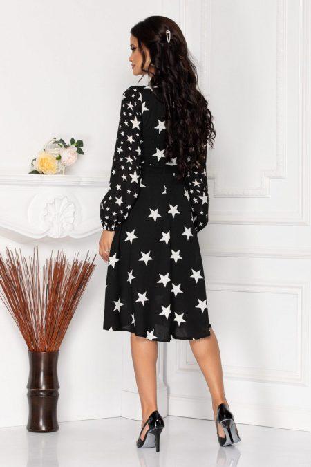 Μαύρο Μίντι Φόρεμα Με Κουμπιά Layla 8533