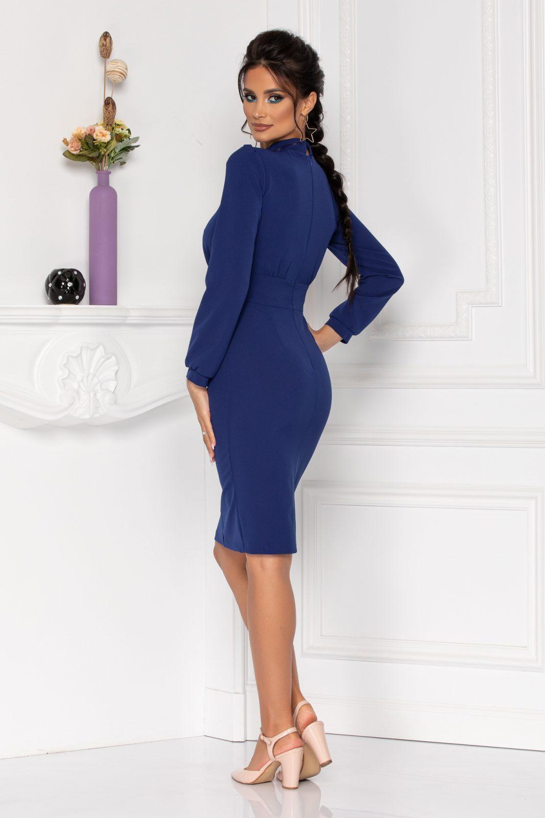 Μπλε Φόρεμα Με Κουμπιά Moze Geneve 8422 1
