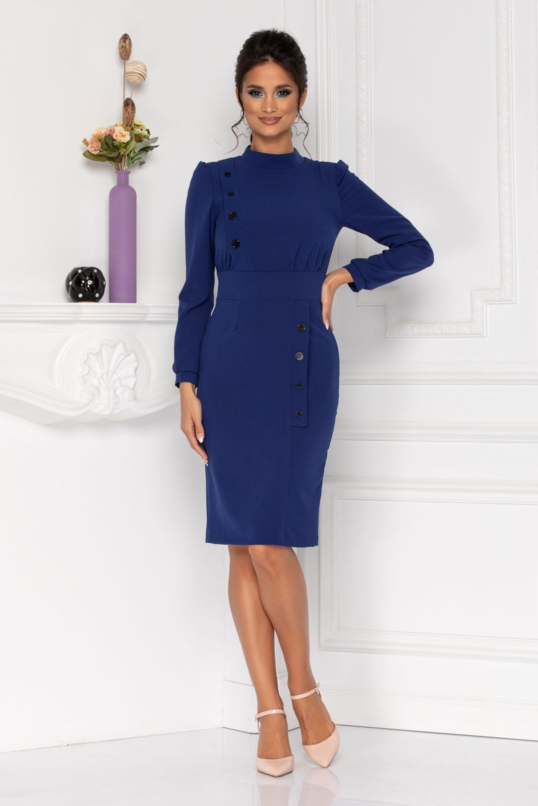 Moze Geneve Royal Blue Dress