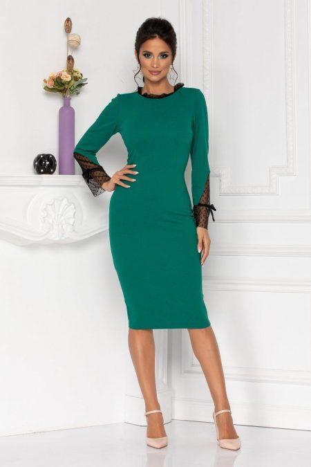 Moze Dalia Green Dress