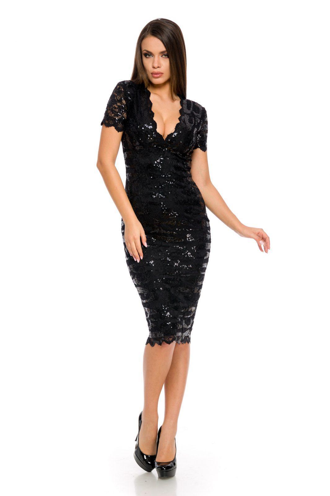 Μαύρο Φόρεμα Vivianne 8397