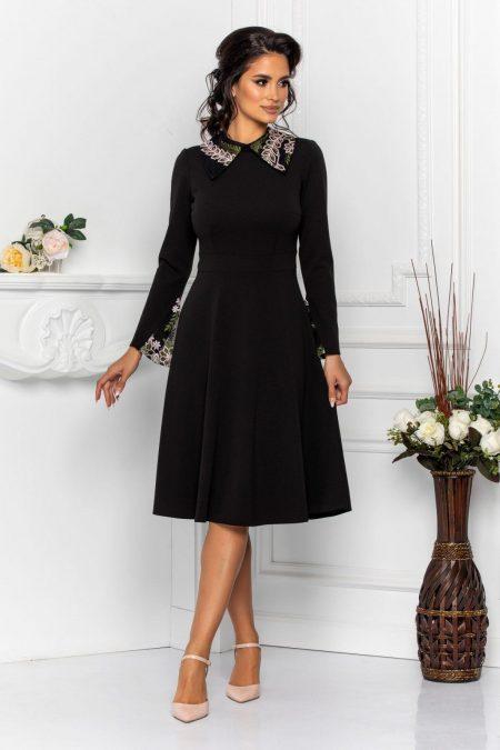 Μαύρο Μίντι Φόρεμα Dolores 8554