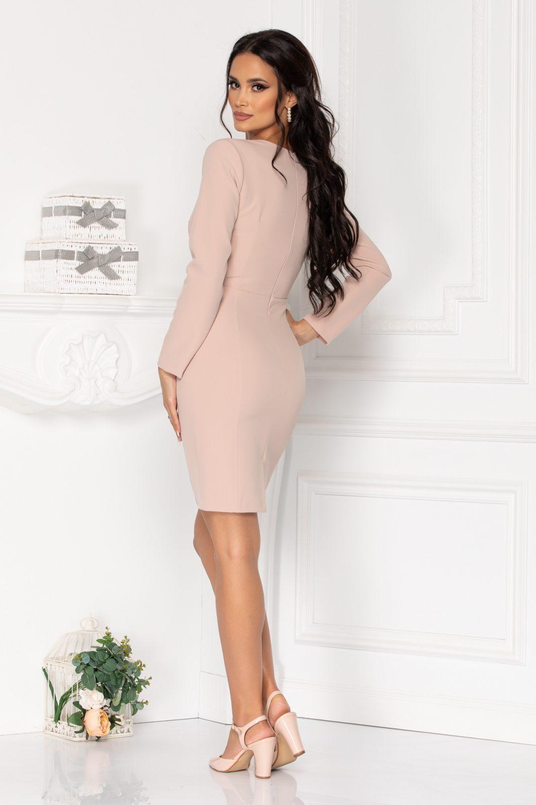 Μακρυμάνικο Nude Φόρεμα Moze Khalisha 8503 1