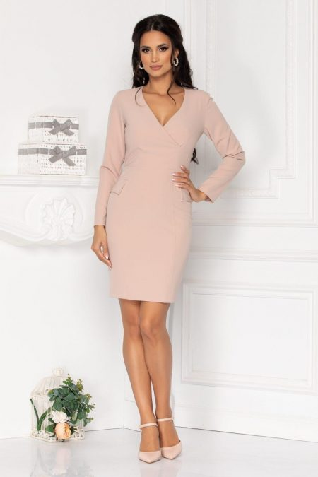 Moze Khalisha Nude Dress