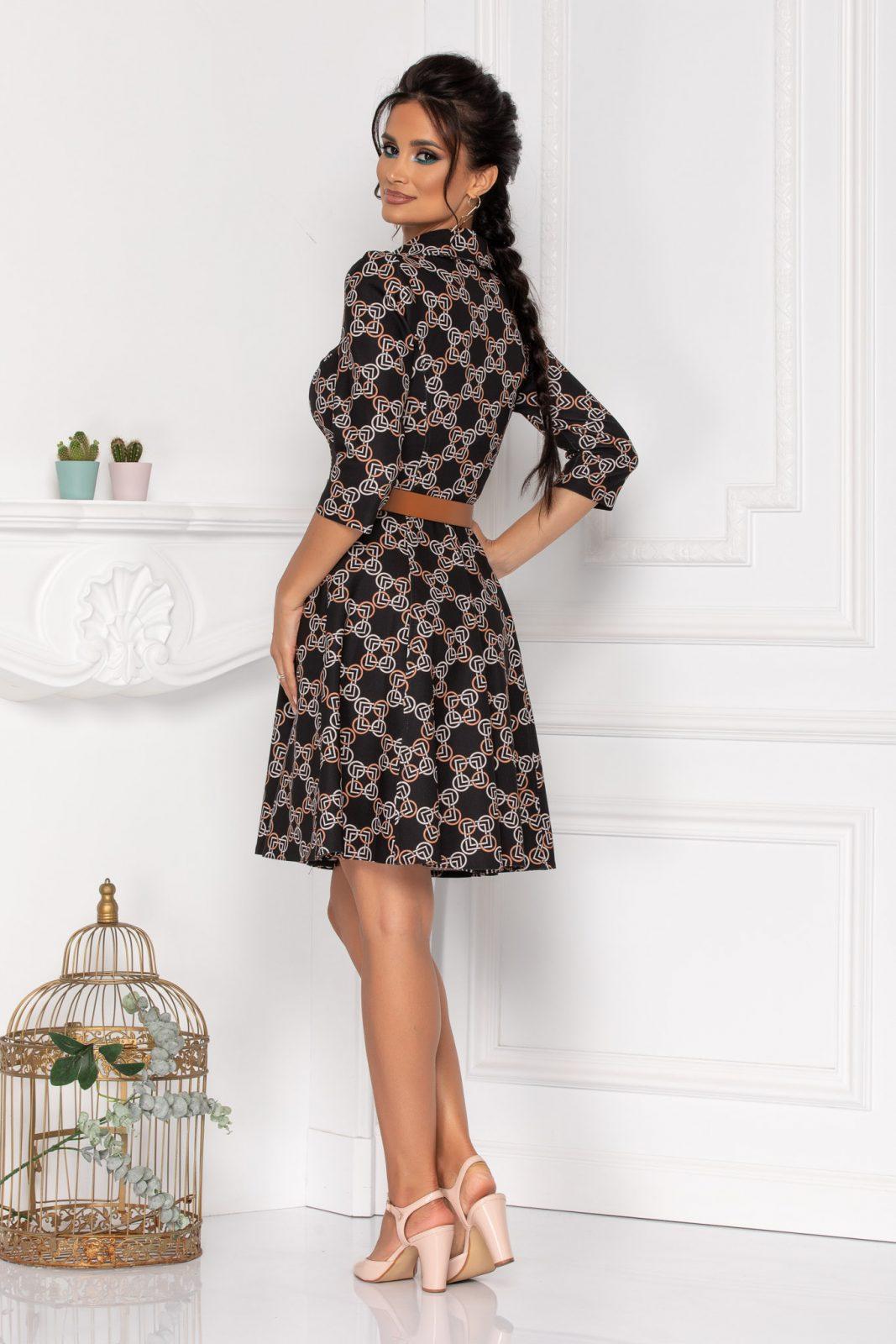Μαύρο Φόρεμα Με Κουμπιά Martha 8456
