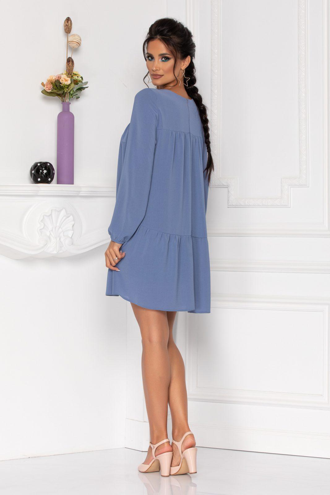 Μπλε Φόρεμα Με Μανίκι Moze Maya 8442 1