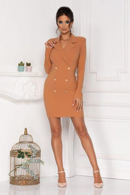 Klara Caramel Dress