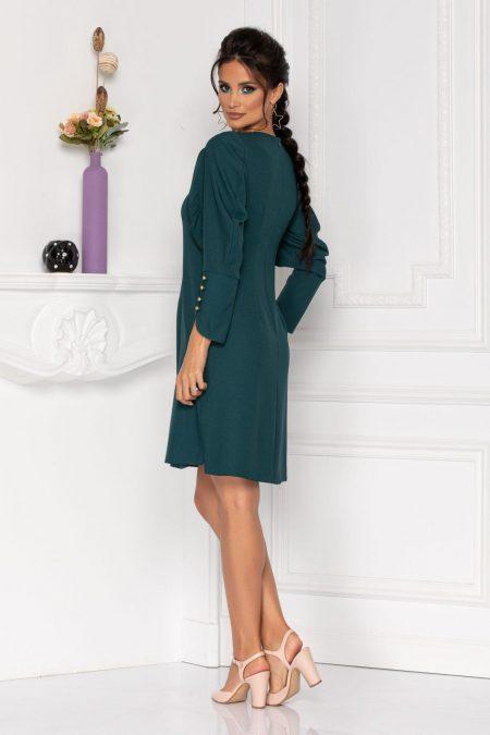 Πράσινο Φόρεμα Με Μακρύ Μανίκι Moze Flavia 8431
