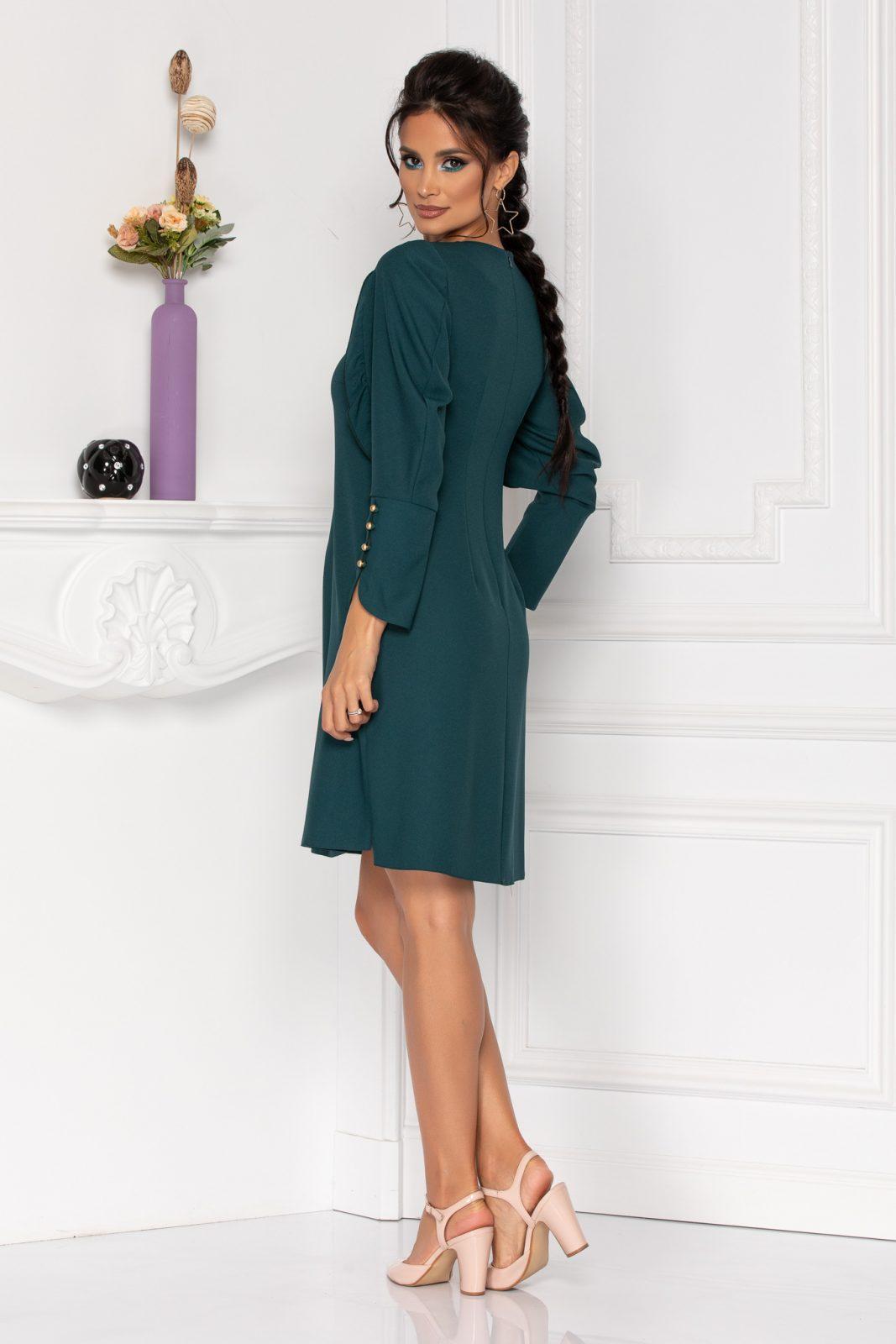 Πράσινο Φόρεμα Με Μακρύ Μανίκι Moze Flavia 8431 1