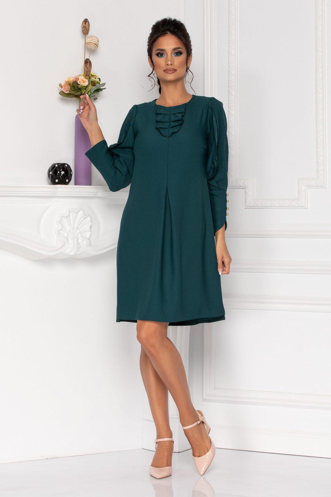 Πράσινο Φόρεμα Με Μακρύ Μανίκι Moze Flavia 8431 2