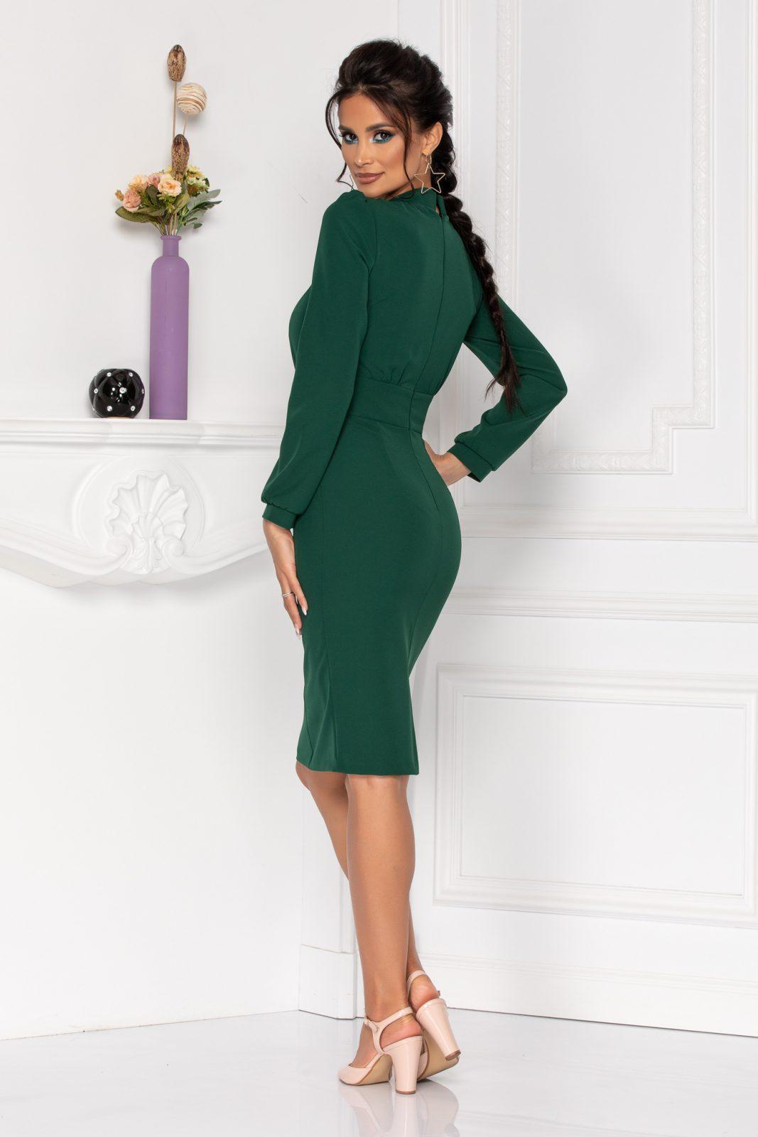 Πράσινο Φόρεμα Με Κουμπιά Moze Geneve 8421 1