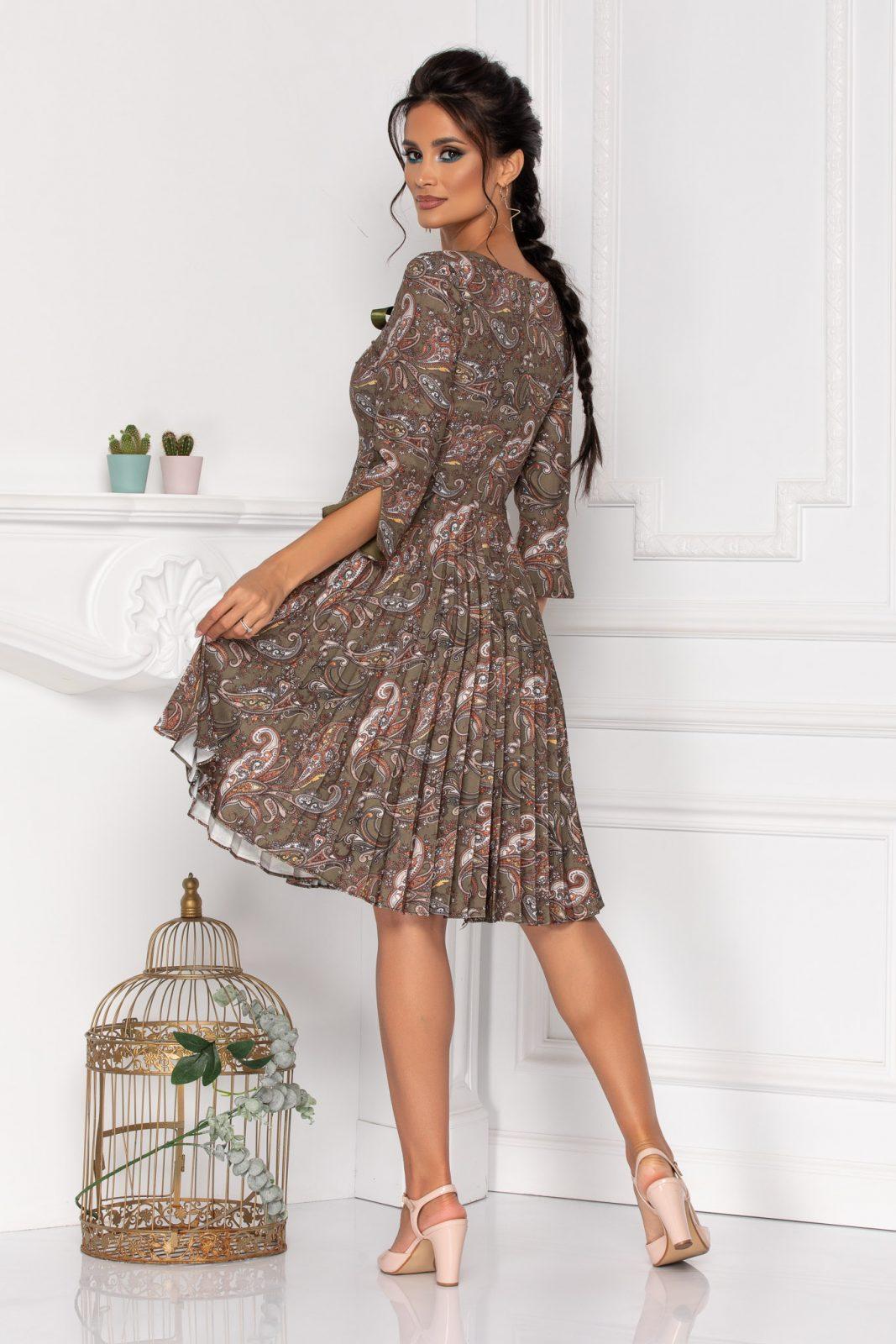 Πλισέ Φόρεμα Με Φιόγκο Madelyn 8471
