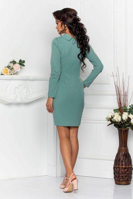 Μέντα Φόρεμα Με Γιακά Andira 8570