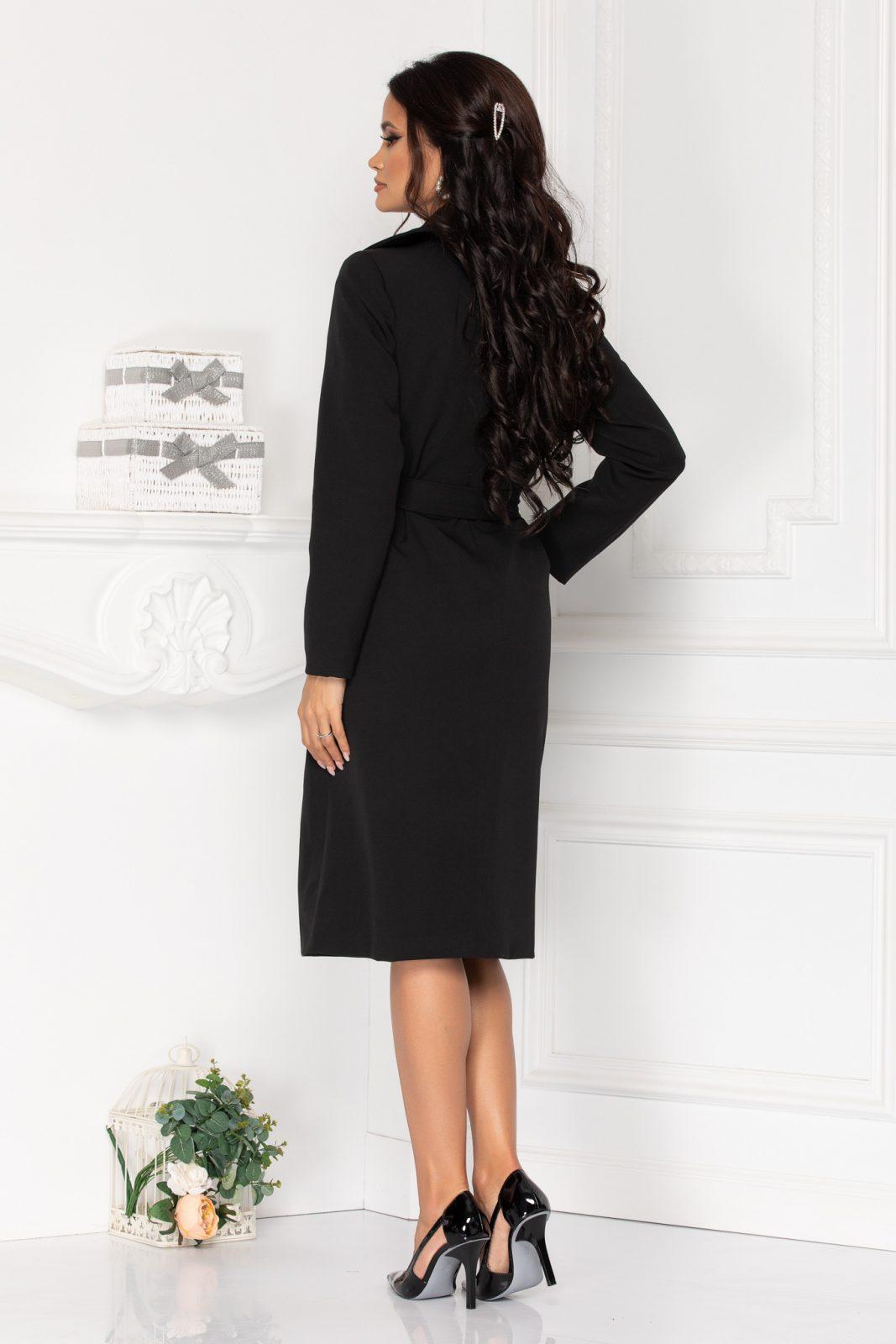 Μαύρο Παλτό Dakot 8509