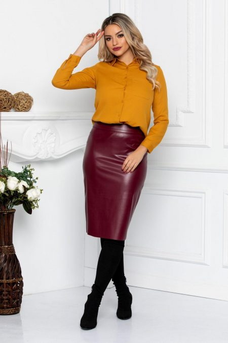 Yana Burgundy Skirt