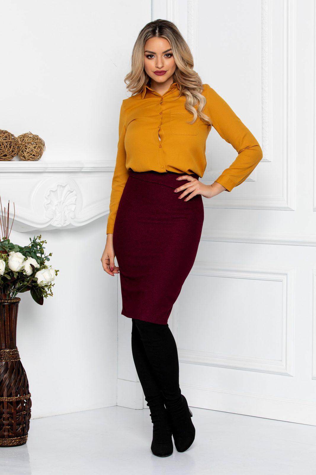 Krina Burgundy Skirt