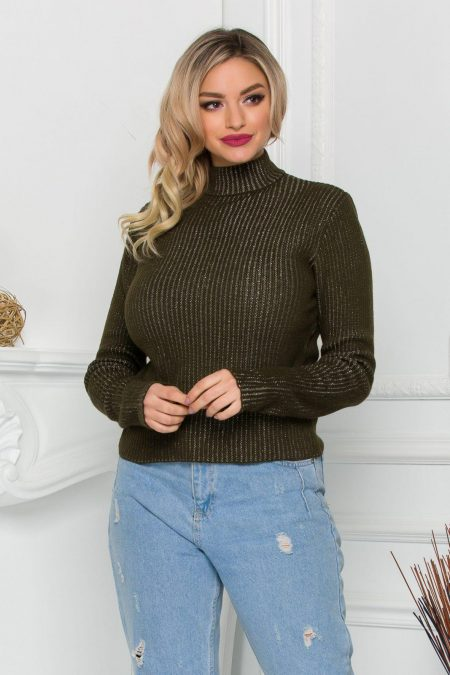 Ezra Dark Green Sweater
