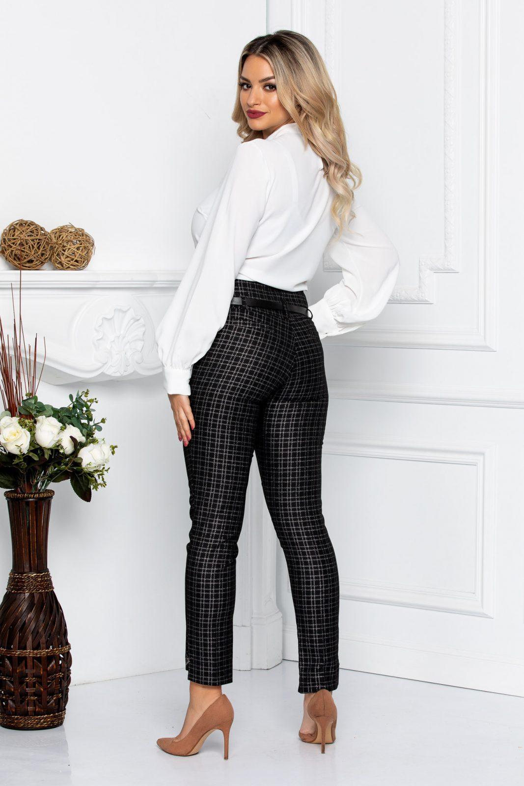Μαύρο Παντελόνι Με Ζώνη Vogue 8643